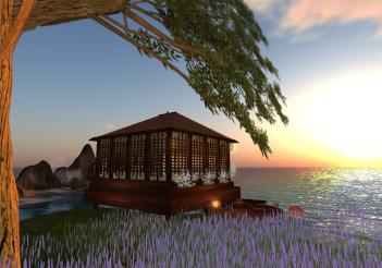 Asian Beach Hut second Life