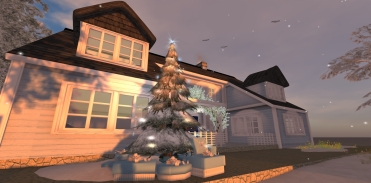 Bluebelle Cottage Plus The Blue Version Of The Christmas Tree