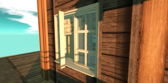 Open windows and wood details