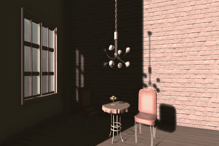 Bulb Chandelier & Chain_040a