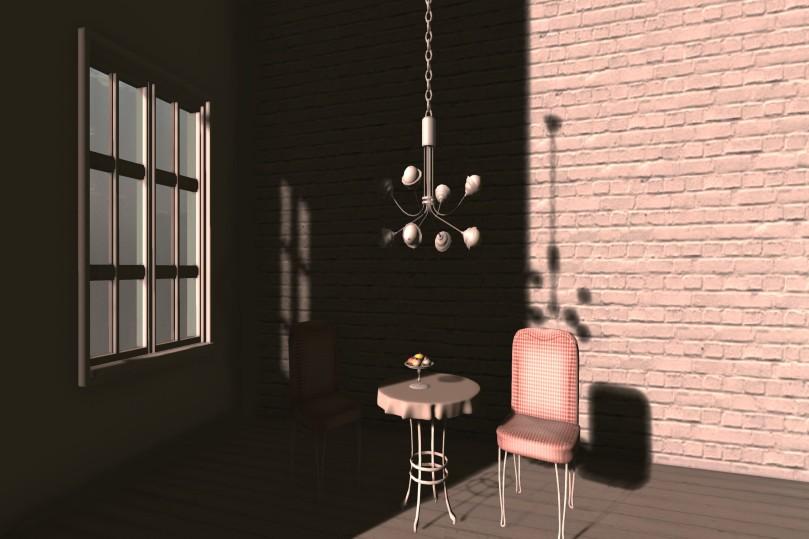Bulb Chandelier & Chain_040a