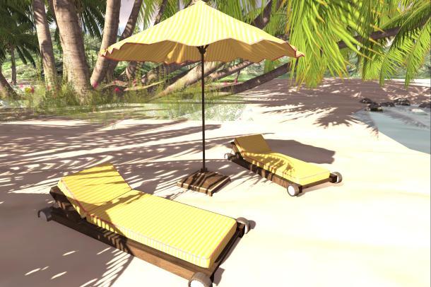 Umbrella beach set_017